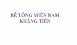 Công ty bê tông tươi Khang Tiên