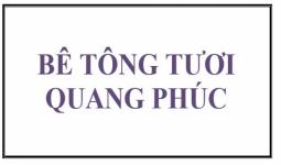 Báo giá bê tông tươi Quang Phúc