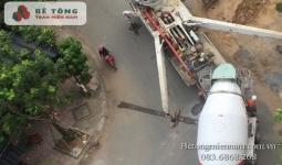 Trạm trộn bê tông tươi tại thị xã Tân Uyên