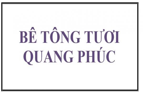 Bê tông Quang Phúc